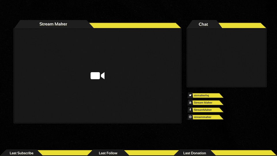 Stream Maker - Overlay maker, banners, panels and more
